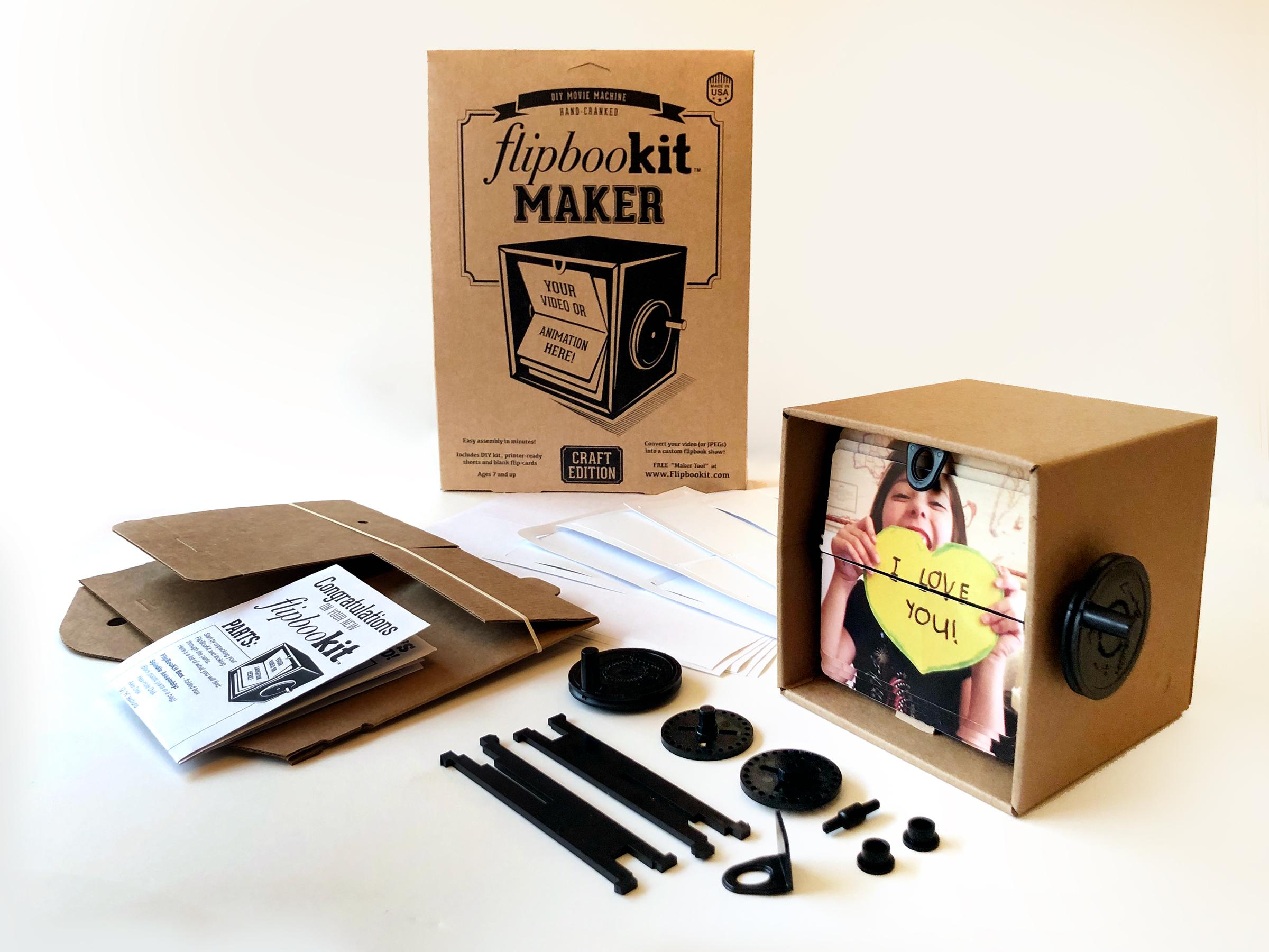 Flipbookit Maker Kit Craft Make Your Own Flip Book Animation Machine