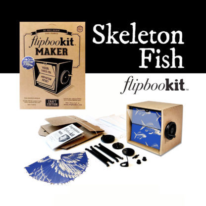 FlipBooKit Skeleton Fish Maker Kit